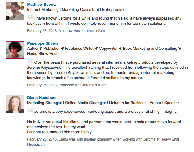 Jerome Knyszewski LinkedIn Marketing Expert